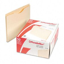 "<strong>Esselte Pendaflex Corporation</strong> Double-Ply Tabbed File Jacket with One"" Expansion, Letter, 50/Box"