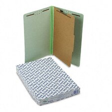 Extra-Hvy Pressboard Classification Folders, Legal, Four-Section, 10/Box
