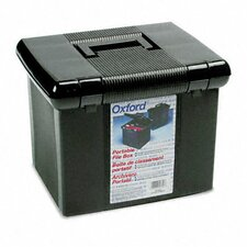 Portafile File Storage Box, Letter, Plastic, 11 X 14 X 11-1/8