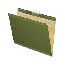 Ready-Tab Reinforced Hanging Folders, 1/5 Tab, Letter, 25/Box