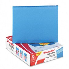 Ready-Tab Lift Tab Reinforced Hanging File Folders, 1/5 Tab, Letter, 25/Box