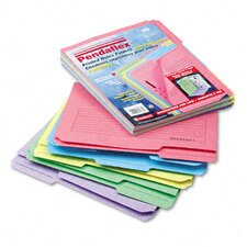 Printed Notes Folders with Fastener, 1/3 Cut Top Tab, Letter, 30/Pack