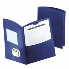 <strong>Esselte Pendaflex Corporation</strong> Oxford Contour Two-Pocket Recycled Paper Folder, 100-Sheet Capacity