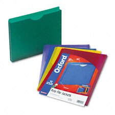 Expanding File Jackets, Letter, Poly, 10/Pack