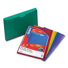 Expanding File Jackets, Legal, Poly, 5/Pack
