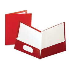 Oxford High Gloss Laminated Folder, 100-Sheet Capacity, 25/Box