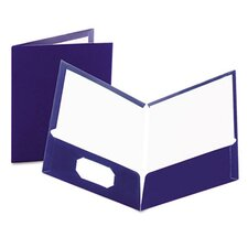 Oxford High Gloss Laminated Paperboard Folder, 100-Sheet Capacity, 25/Box