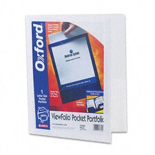 Oxford Viewfolio Polypropylene Portfolio, 50-Sheet Capacity