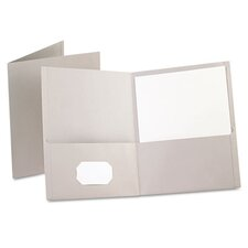 <strong>Esselte Pendaflex Corporation</strong> Oxford Twin-Pocket Portfolio, Embossed Leather Grain Paper, 25/Box
