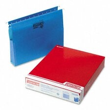 "Reinforced Hanging 2"" Expansion Folders with Sides, Letter, 25/Box"