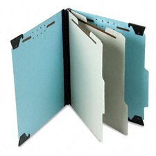 Pressboard Hanging Classification Folder with Dividers, Six-Section, Letter