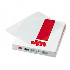 Color Jacs Transparent File Jackets, Letter, Poly, 50/Box