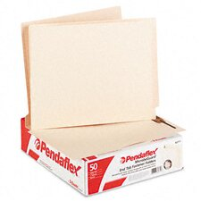 Anti Mold and Mildew End Tab File Folders, One Fastener, Letter, 50/Box