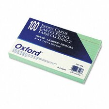 Oxford Ruled Index Cards, 5 X 8, 100/Pack