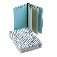 Pressboard Classification Folder, 2/5 Tab, Legal, Six-Section, 10/Box