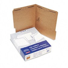 Kraft Two-Fastener Classification Folders with 1/3 Cut Tabs, Letter, 50/Box