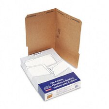 Kraft Two-Fastener Classification Folders with 1/3 Cut Tabs, Legal, 50/Box