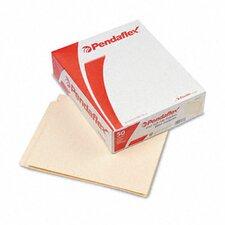 End Tab Expansion Folders, 1 Fastener, Straight Cut Tab, Letter, 50/Box
