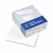 Reinforced End Tab Folders, Two Ply Tab, Letter, 100/Box