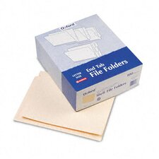 "End Tab Folders, Straight Cut, Two Ply, 9"" Front, Letter, Manila, 100/Box"
