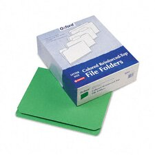 Two-Ply Reinforced File Folder, Straight Top Tab, Letter, 100/Box