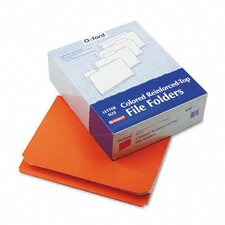 <strong>Esselte Pendaflex Corporation</strong> Two-Ply Reinforced File Folder, Straight Cut, Top Tab, Letter, 100/Box
