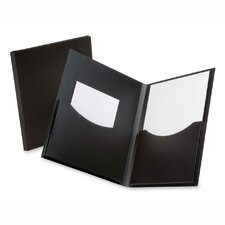 "Twin Pocket Folder,w/ 6"" Pockets,Holds 200 Sheets, Letter Black/Navy"