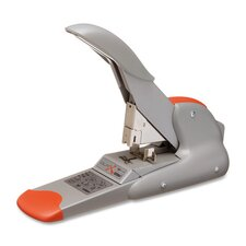 Heavy-Duty Stapler, 2-170 Sheet Capacity, Silver/Orange