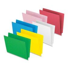"End Tab File Folder,3/4"" Exp.,11 pt.,Letter,100 per Box,Red"