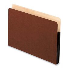"File Pockets,Antimicrobial,3-1/2"" Exp.,Letter,10/BX,Redrope"