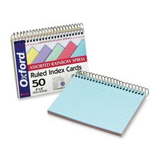 Oxford Spiral Index Cards, 4 X 6, 50 Cards