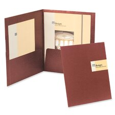 Oxford Yourstyle Custom Card Folio Presentation Folder, Letter Size, 4/Pack