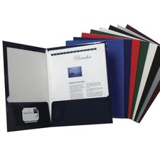 "Laminated Portfolio,2-Pocket,11""x8-1/2"",Assorted"