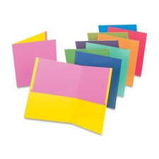 "Twin Pocket Portfolio, 11""x8-1/2"", 50/BX, Assorted"