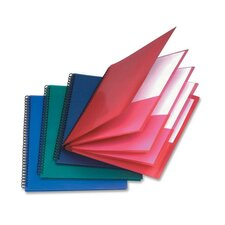 8-Pocket Folder,Wire Bind,Letter,200 Sh Capacity,Assorted