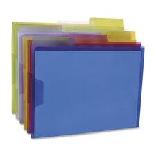 View Folder, 1/3 Cut Tabs, Letter, 6 per Pack, Assorted