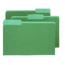 Two-Tone File Folders, 1/3 Cut Top Tab, Legal, 100/Box