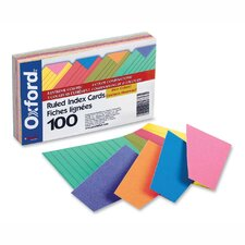 Index Cards, Ruled, 100 per Pack, Assorted, 3 Sizes