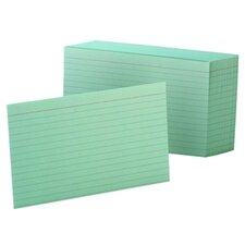 Oxford Ruled Index Cards, 4 X 6, 100/Pack