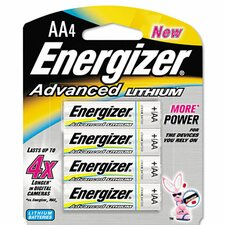 Advanced Lithium Batteries, Aa, 4/Pack