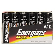 Max Alkaline Batteries, Aa, 12 Batteries/Pack