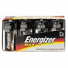 Max Alkaline Batteries, C, 8 Batteries/Pack