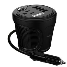 120W Continuous / 240W Peak Power World's Smallest Cup Inverter