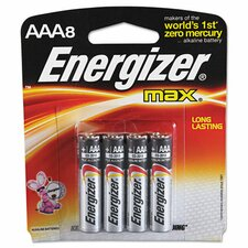 Max Alkaline Batteries (Set of 8)