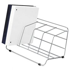 Four-Section Wire Catalog Rack, Metal