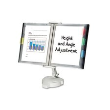 Desktop/Wall Mount Copyholder, Plastic, 10 Pockets
