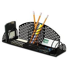 <strong>Fellowes Mfg. Co.</strong> Perf-Ect Multi Desk Organizer, Metal/Wire