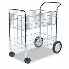 "36.25"" Wire Mail Cart"