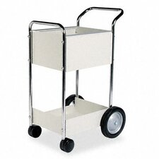 <strong>Fellowes Mfg. Co.</strong> Steel Mail Cart, 75-Folder Capacity