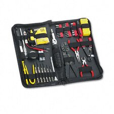55 Piece Computer Tool Kit In Black Vinyl Zipper Case
